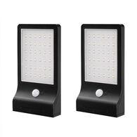 Link2Home 350-Lumen Outdoor LED Solar Security Light, 2-Pack