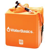 WaterBasics Water Storage Kit with Filter, 60 Gallon