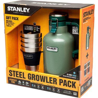 Stanley Classic Vacuum Growler and Adventure Steel Tumbler Gift Set