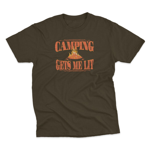 Points North Men's Camping Gets Me Lit Short-Sleeve Tee
