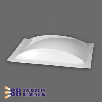 """Low Profile Thermoformed Polycarbonate 14"""" x 22"""" RV Skylight, White"""