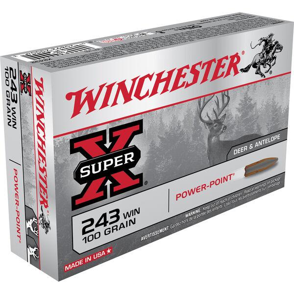 Winchester Super-X Rifle Ammo, .243 Win, 100-gr., PP
