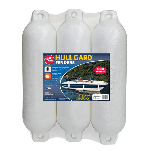 """Taylor Made Hull Gard 6.5"""" x 23"""" Inflatable Fenders, 3-Pack"""