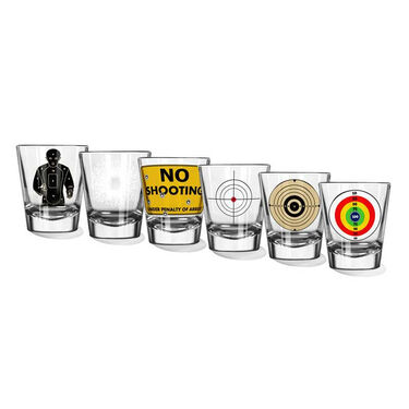 Unemployed Philosophers Guild Shot Glasses, Set of 6