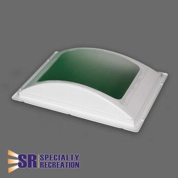 """Rectangular Inner RV Skylight, White Frame/Cracked Ice Top 14"""" x 22"""""""