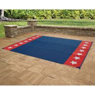 Reversible Stars & Stripes Design Patio Mat, 9' x 12'