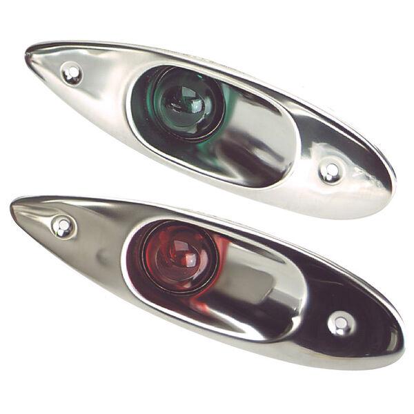 Stainless Steel Flush-Mount Side Lights, pair