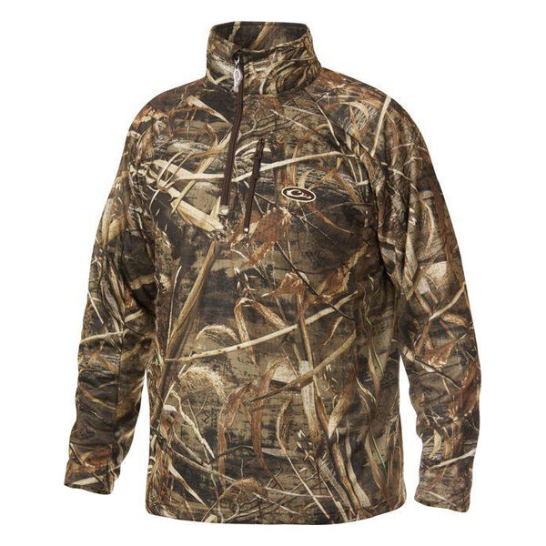 Drake Waterfowl Men's Camo BreatheLite Quarter-Zip Jacket
