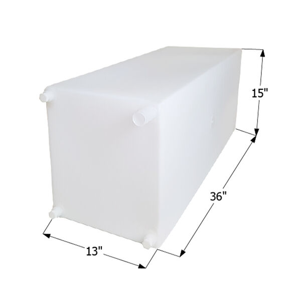 """ICON Technologies WT2463 Freshwater Tank with 1/2"""" Fittings, 30 Gallons"""