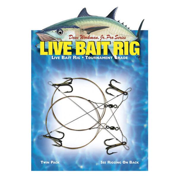 Boone Live Bait Rig, Single-Hook 2/0, #2 Treble Hook, 2-Pack