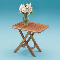 SeaForce Teak Small Adjustable Slat Top Table