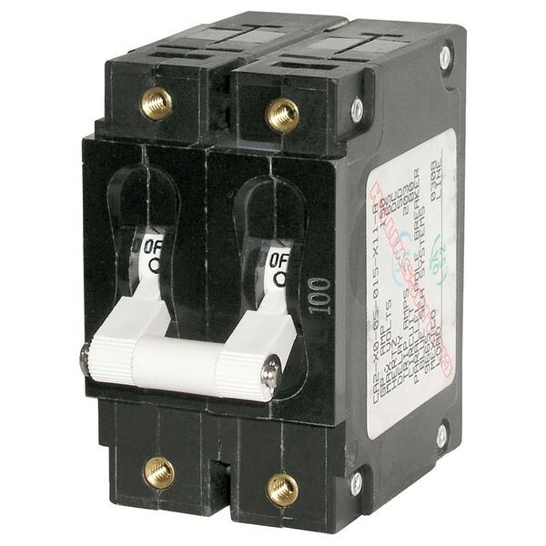 Blue Sea AC Circuit Breaker C-Series Toggle Switch, Double Pole, 60A