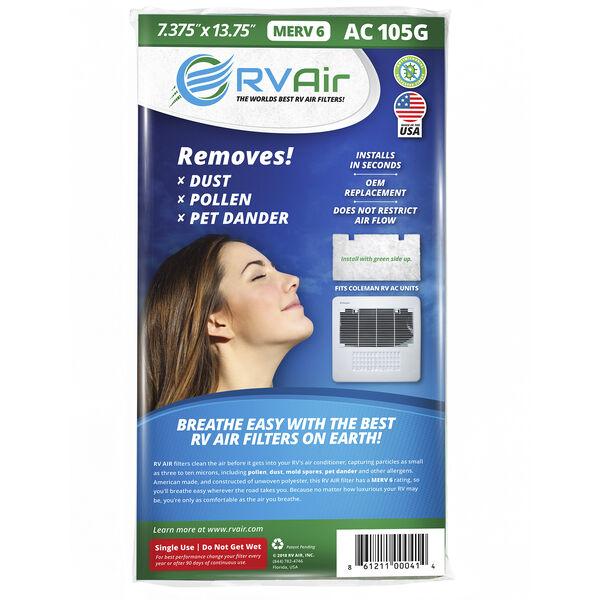 """RV Air AC 105G Air Filter, 13-3/4"""" x 7-3/8"""""""