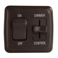 Switch, 12V, Dimmer/On-Off w/Bezel, Brown