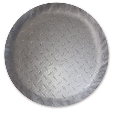 Diamond Plate Silver Spare Tire Cover, 25.5""