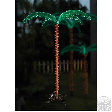 Green Long Life Decorative 7' LED Rope Light Palm Tree