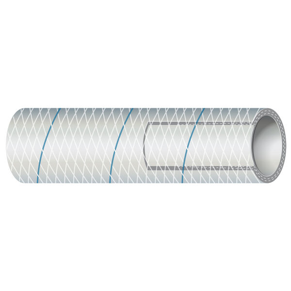 "Shields 1/2"" Polyester-Reinforced Blue-Tracer Tubing, 50'L"