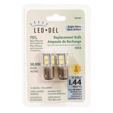 2 pack of LED bulbs for all 1004 applications, Bright White