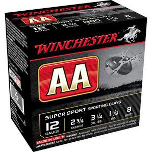 "Winchester AA Super Sport Target Loads, 12-ga., 2-3/4"", 1-1/8 oz., #7.5, 8"