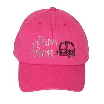 Women's Rhinestone Decorated Cap, Pink