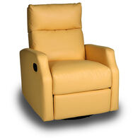 Opulence Home Sidney Swivel Glider Recliner, Bedford Yellow
