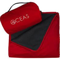 Oceas Waterproof Fleece Blanket, Red