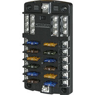 Blue Sea Common Sourced ST Blade Fuse Block - 12 Circuits w/Negative Bus