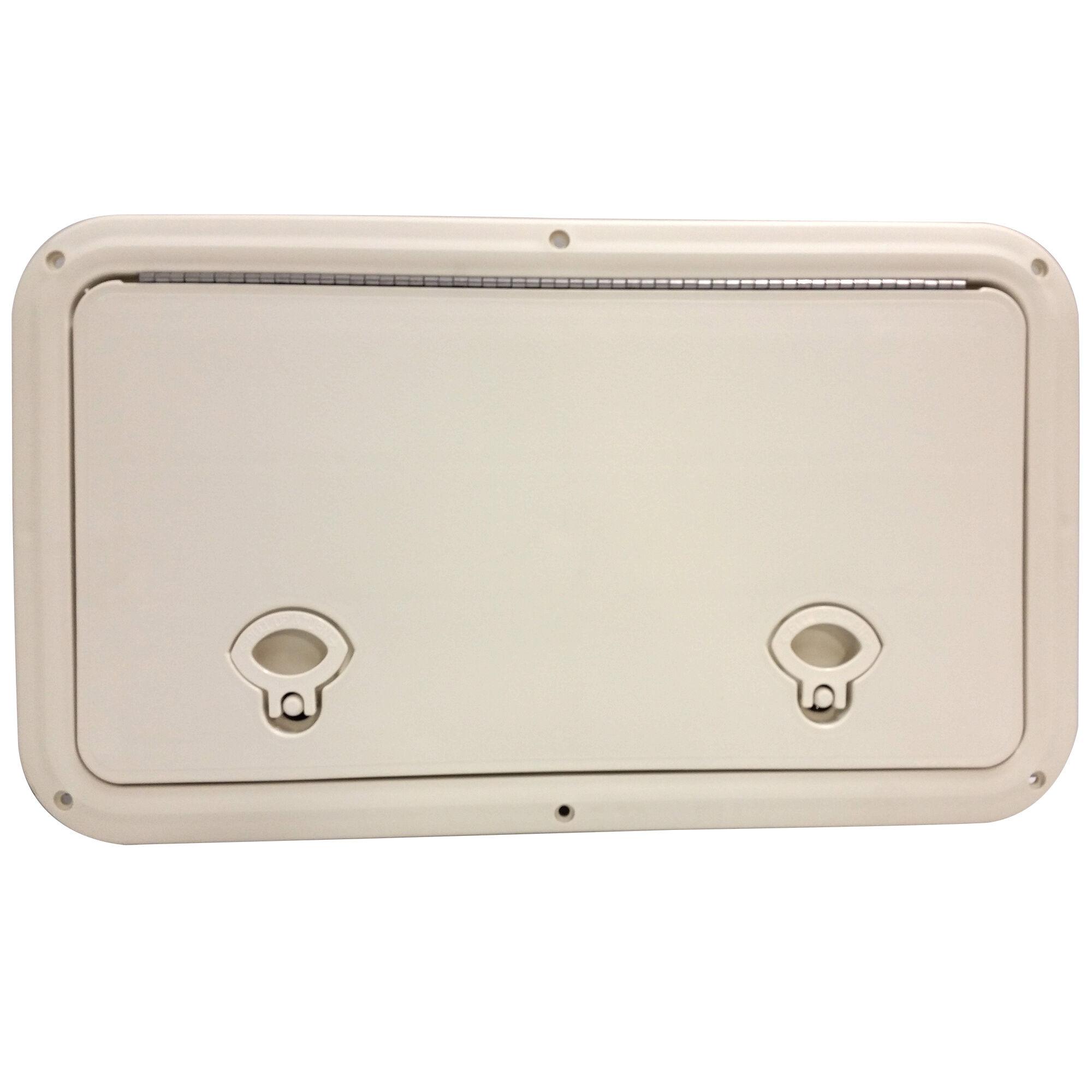 """DPI Marine 13/"""" x 17/"""" Flush Series Hatch//Door Marine White Off-White"""