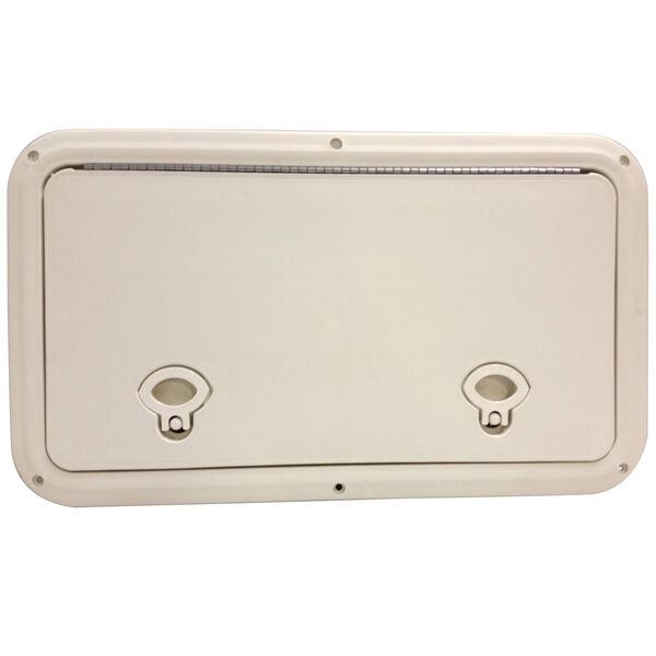 """DPI Marine DPF White Flush Series Hatch Door, 12-7/8"""" x 19-3/4"""" O.D. frame"""