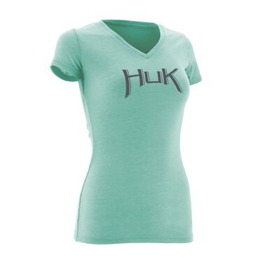 Huk Women's Arched Logo Short-Sleeve Tee