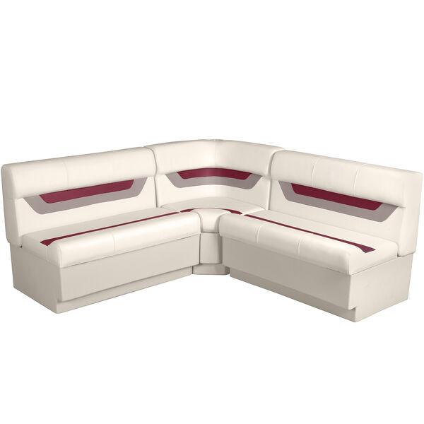 """Designer Pontoon Furniture - 61"""" Rear Wraparound Package, Platinum/Dark Red/Moch"""