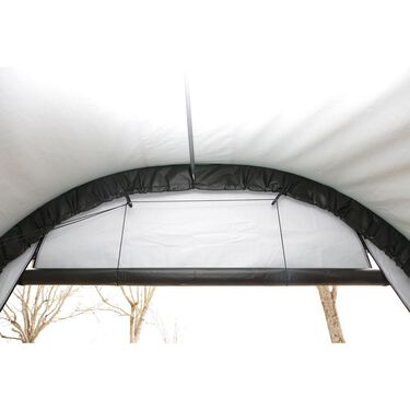 Round Style Shelter 13 x 28 x 10 Gray Cover