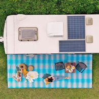 CGEAR Comfort RV Sand Free Patio Mat, Blue Plaid Small