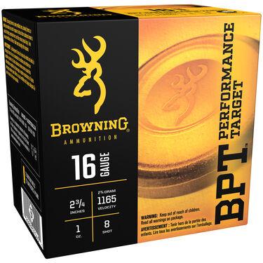 "Browning BPT Performance Target Shotshell Loads, 16-ga., 2-3/4"", 3/4-oz., #8"