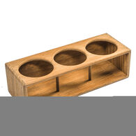 Whitecap Teak Teak Three Insulated Drink/Bottle Rack