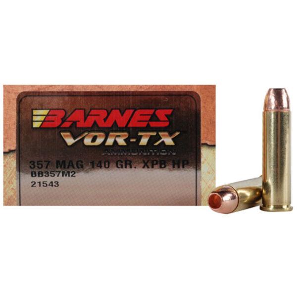Barnes VOR-TX Handgun Ammo, .357 Mag, 140-gr., XPB