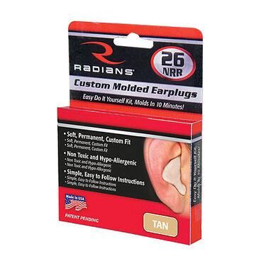 Radians Custom Molded Ear Plugs, Tan