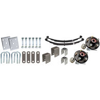"Tie-Down 2-3/8"" Single Axle Installation Kit With Painted Hub"