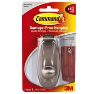 Command Timeless Hook - Brushed Nickel