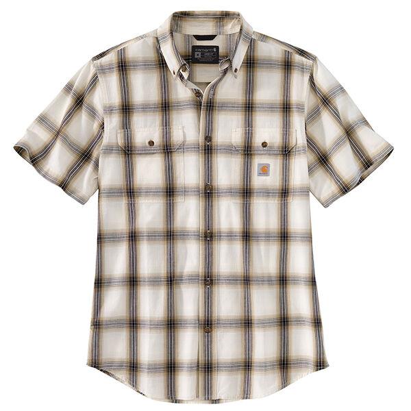 Carhartt Men's Chambray Short-Sleeve Plaid Shirt