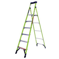 8' Mightylite Fiberglass Ladder, Type IAA 375lbs