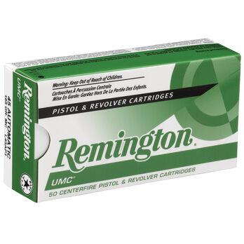 Remington UMC Handgun Ammunition, 9mm Luger, 124-gr., FMJ, 50 Rounds