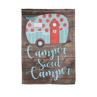 "Camper Sweet Camper Garden Flag, 18""L x 12 1/2""W"