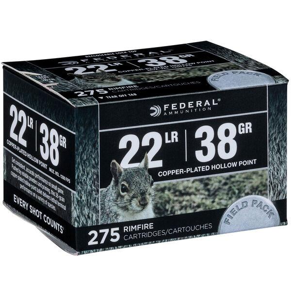 Federal Field Rimfire Ammunition, .22 LR, 38-gr., Copper Hollow Point
