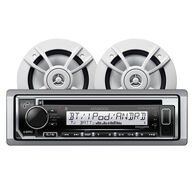 "Kenwood KMR-D372BT Bluetooth CD Receiver Package w/4 6.5"" Two-Way Speakers"