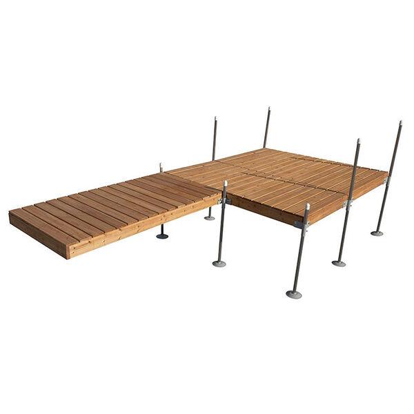 Tommy Docks 16' Platform-Style Cedar Complete Dock Package