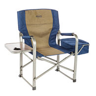Director's Chair with Side Table and Cooler, Navy and Tan