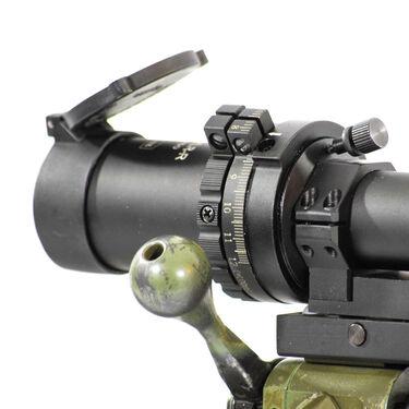Hi-Lux 6-24x50 Leatherwood ART M1200-XLR Scope with XLR Ranging Reticle, Green
