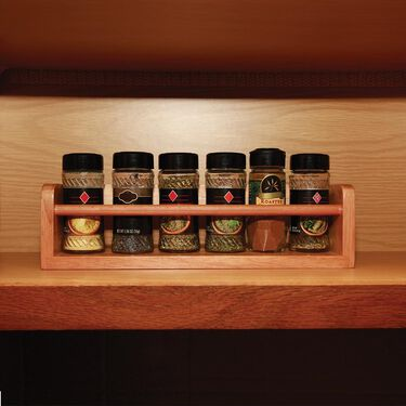 Solid Oak Spice Rack