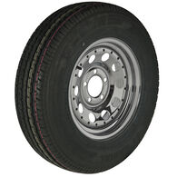 Trailer King II ST205/75 R 14 Radial Trailer Tire, 5-Lug Chrome Modular Rim